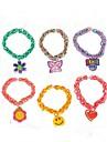 Z&X® 20шт ассортимент прелести для ткацких станков полос браслеты небольшие стили подвесные смешанные