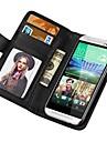 Modèle de pochette unité centrale de caisse en cuir pour HTC One M8 avec le stand Fuction