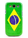 Brazil Flag Pattern Case Cover for Galaxy 3 I9300
