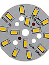 7W 600-650LM Warm White Light 5730SMD Integrated LED Module (21-24V)