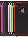 2에서 1 iPhone 4/4S를위한 실리콘 안쪽 커버와 디자인 육각형 패턴 하드 케이스 (분류 된 색깔)