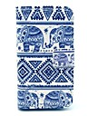 Affaire Full Body Elephant Pattern pour iPhone 4/4S