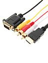Высокая HDMI Качество чтобы VGA/3RCA кабель