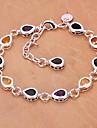 Fashion 25cm Women's Silver Copper Bracelets