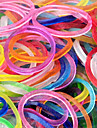 Rainbow Colorful Loom Style Noctilucence Rubber Band(600 Pcs Bands+24 Pcs C Or S Clips)