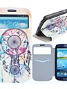 Windbell Pattern PU Leather Full Body Case with Card Slot for Samsung Galaxy S3 I9300