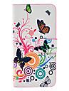 teste padrão de borboleta de corpo inteiro caso TPU couro para 5/5s iphone