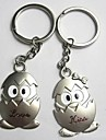 (A pair)Shell Life Interesting High-grade Stainless Steel Keychain Symbol of Love