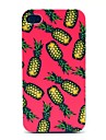 Pink Background Pineapple Pattern Hard Case for iPhone 4/4S