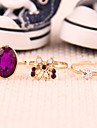 Ring Party / Daily / Casual Jewelry Alloy / Rhinestone Women Statement Rings Gold