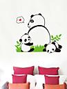 팬더 패턴 벽 스티커 (1PCS)