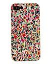 étui rigide de motif géométrique pc multicolore pour iPhone 4 / 4S