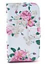 Pour Samsung Galaxy Coque Porte Carte / Portefeuille / Avec Support / Clapet / Motif Coque Coque Intégrale Coque Fleur Cuir PU Samsung