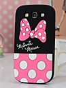 Cute Dot Bowknot Silicone Phone Case for Samsung Galaxy S3  i9300