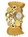 Женские Модные часы Кварцевый сплав Группа Блестящие Элегантные часы Черный Серебристый металл Коричневый