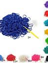 (300 шт / уп) чистый цвет ткацких полосы стиль резинкой с 12шт S крюк и