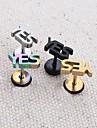 lureme®316l хирургического титана стали письмо да отдельные серьги стержня (случайный цвет)