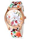 Mulheres Relógio de Moda Quartz Banda Flor Cores Múltiplas marca-