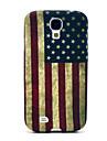 Case TPU Rétro Motif drapeau national des États-Unis pour Samsung Galaxy i9500 S4
