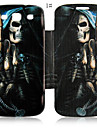 Cool Skulls Series Leather Full Body Case for Samsung Galaxy S3 I9300 (Assorted Color)