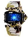 SKMEI Hommes Montre de Sport Montre Militaire Montre numérique Quartz Numérique Quartz Japonais LED LCD Calendrier Chronographe Etanche