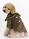 Cães Casacos Marrom Roupas para Cães Inverno Cor Única Da Moda / Mantenha Quente