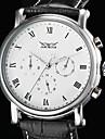 WINNER® Men's Auto-Mechanical 6 Pointers Black Leather Band Wrist Watch Cool Watch Unique Watch Fashion Watch