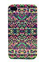 Colorized Mista Geometria Hard Cover Case para iPhone 4/4S
