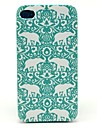 Flower Elephant Carpet Pattern Hard Case for iPhone 4/4S