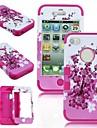 2 в 1 Peach Blossom Робот Стиль ПК и Sillcone Композитный чехол для iPhone 4/4S (разных цветов)