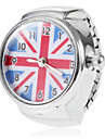 Женские Модные часы Кварцевый Группа Полоски Серебристый металл бренд-