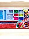 무지개 화려한 베틀 팔찌 상자 (600 개 밴드 + 24 개 c 또는의 클립 + 3 직기 + 1 후크)