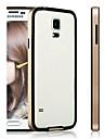 TPU flexível Hybrid + Quadro PC Case Bumper para Samsung Galaxy i9600 S5 (cores sortidas)