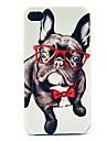 Dure de cas modèle verre Happy Dog pour iPhone 4/4S