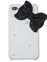 mode bowknot perle diamant étui rigide pour iphone 4/4s