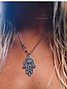 Женский Ожерелья с подвесками Сплав Мода Простой стиль Серебряный Бижутерия Для вечеринок Повседневные 1шт