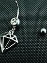 lureme®316l titane chirurgical cristal en acier évider anneau nombril géométrique