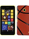 Basketball Pattern Slim Hard Plastic Case for Nokia Lumia 630