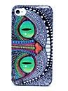 cas dur de modèle de hibou de yeux verts pour l'iphone 4/4s