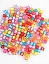 радуга красочные ткацкий станок резиновые Группа цвет макропористые прозрачные письмо бисер 100 шт