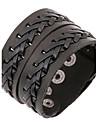 Bracelet Bracelets en cuir Cuir Autres Original Mode Quotidien Regalos de Navidad Bijoux Cadeau Noir Brun,1pc