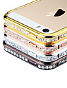 Perfume Diamond Rhinstone Metal Bumper Frame Case for iPhone 5/5S  (Assorted Colors)