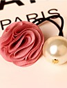 Rose Flower Big Pearl Hair Ties