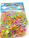 Loom Bands Simple DIY Rubber Band(600 Pcs Bands、24 S Clips、A Crochet Hooks)
