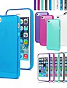 TPU de couleur de sucrerie de cas de protection pour l'iphone 4/4s (couleurs assorties)