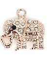 Rhinestone Elephant DIY Charms Pendants for Bracelet & Necklace