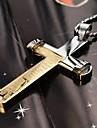 Муж. Ожерелья с подвесками Титановая сталь Крестообразной формы Серебряный Серебряный с черным Золотой/Серебряный БижутерияПовседневные