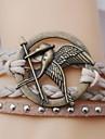кожаный браслет многослойных сплавов пернатой дичи прелести ручной Braclet