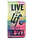 Live Life Sea PU Leather Case with Card Holder for Samsung Galaxy S4 Mini I9190