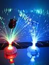 Coway Uma Rosa garrafa de fibra óptica Flor colorido LED Night Light (cor aleatória)